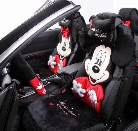 Mickey Maus Auto Sitzbezuge Cartoon Dimensionale Stickerei
