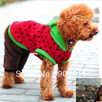Новое! Модные Арбуз собака кошка зимняя одежда / платье / футболка, бесплатная доставка + подарки