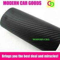Wholesale 127cm x 30m black 3d carbon fiber vinyl film car vinyl car wrap practicable car stickers