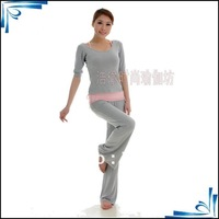 Free shipping Modal yoga server long sleeve increasingly suit yoga for three piece suit