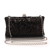 wholesale price handmade paillette hard clutch bag cosmetic bag evening bag