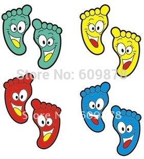 발자국을 어린이 방 장식 벽화 예술 벽 스티커 데칼-에서 무료 ...