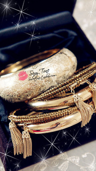 [Mix 15USD] Europe and the United States fashion gold carve patterns or designs on woodwork combination suit texture Bangle