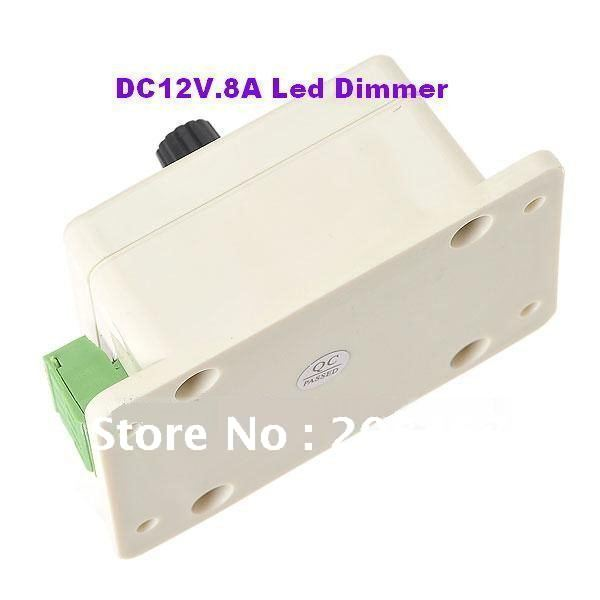 3pcs Free shipping 12V 8A 96W LED Dimmer Brightness Adjustable Controller For Led Strip Lighting Light(China (Mainland))