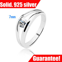wholesale mini order $10 w Quality AAA Classic .25CT Elegant 925 Silver Lady Ring Xmas gift #RI100567