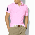 men fashion cotton turn-down collar T-shirt polo short-sleeve male summer sport free shipping