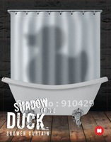 "free shipping  Dark Projection Fabric  71*71""  Polyester shower curtain Waterproof Mouldproof Decorated with the "" duck"" pattern"