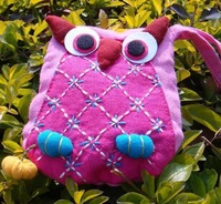 10pcs/lot Handmade Craft OWL Purse ,OWL Wallet,OWL Change Pocket,free shipping to all countries