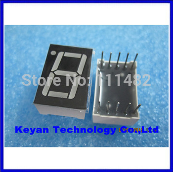 10PCS/LOT    1 Digit 0.56inch     Red LED Display Common + CATHODE