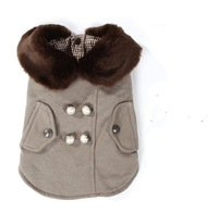 2012 new fashion!khaki Pet cat dog Dust coat .Pet products for autumn and winter 10pcs/lot+free shipping!