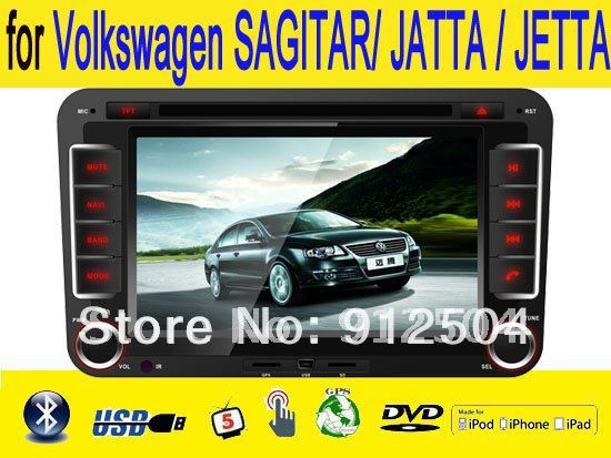 "7"" car dvd player gps NAVI map touch screen for Volkswagen SAGITAR/ JATTA / JETTA 40$ more canbus box(China (Mainland))"