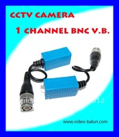 Blue colour CCTV Camera Single Channel BNC Passive Video Balun