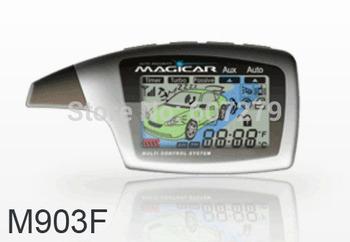 original korean magicar M903F M902F/1 mile remote starter/two way car alarm/LCD display pager/compustar magicar 5/timer start/