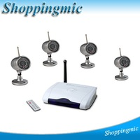 2012 New 2.4GHz Wireless 4 Channel QUAD USB DVR Camera Home Security System Camera With Night Vision Waterproof COMS Camera
