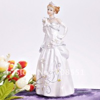 Free Shipping 1pcs Gorgeous Fairytale Bride/Princess Wedding Resin Cake Topper Decoration