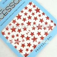 wholesale 50 pcs X 3D Nail Art Sticker different color self-adhesion nail sticker nail art decoration Pentagram shape