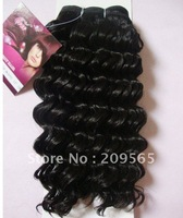 Deep wavy  Human hair & Protein filament  hair weaving  Deep wavy 10inch-18inch 100g 1B#
