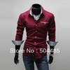 [F-135] 2013 New men's Cotton Shirt Casual Slim Fit Stylish Dress Shirts polo shirt men