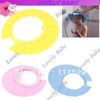 Lovely Soft Child Kid Shampoo Bath Shower Cap , Baby Wash Hair Shield Hat ,Yellow / Pink / Blue 4478