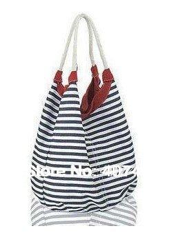 Fashion leisure strip Handbag Tote Designer Lady girl's student shoulder beach bag canvas desgin multi color  CN post