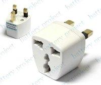 EU AU US to UK AC power plug travel adapter outlet converter socket white 500pcs/lot