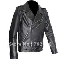 2013 Top fashion mens leather jacket biker jackets autumn and winter motorcycle leather rock PU dropship wholesalers