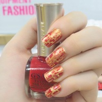 New design G'SANG cracked 24 summer crack colors nail lacquer art beauty crackle shatter nail polish with high quality by free
