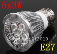 E27 15W LED Spot Lamp White/ Warm White LED Light Bulb 85V-265V  Ultra Bright High Power Intensity Bulb