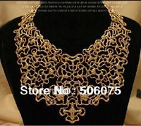 Min order $10 Antique Jewelry Alloy Chokers Bib Statement Necklace Fashion Women