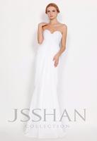 11P102 White Chiffon Strapless Elegant Gorgeous Luxury Unique Brilliant Ruching Evening Dress White Prom Dress