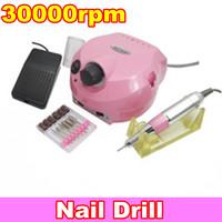 Free Shipping, 220V Pro NEW Pink Electric Nail Drill for Nail Art Acrylic Nail Drill Salon and Home Use