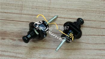 free shipping  schaller - style guitar bass strap lock straplocks wholesale+retail Guitar Strap Lock  Black