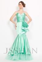 11P120 Strapless Sweetheart Elastic Woven Satin Mermaid  Elegant Gorgeous Unique Brilliant Evening Dress Fancy Dress Party