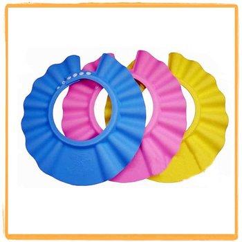 3 colors 9 pcs/lot bath cap kid's shower hat baby's hair wash hat Shampoo Shower cap baby caps infant hat