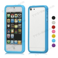 Buy High Quality Anti-slip Silicone Frame Bumper Case for iPhone 5 100Pieces/Lot DHL Many Colors Available Free Shipping
