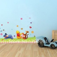 Fashional home decorative  wennie kids room wall stickers is removable