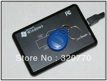 Hotsalling New Security Black USB compatible ID car,RFID proximity card reader  LF 125Khz Smart reader cards EM4100 5pcs/lot