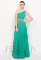 11P129 Strapless Ruched Teal Elastic Woven Satin Elegant Gorgeous Luxury Unique Brilliant Evening Dress Ball Gown Dresses