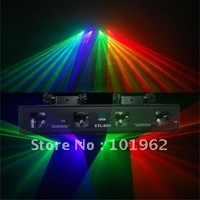 wonderful effect 4 lens 3 color 260mW  RGV dj disco light  DMX  sound laser show system