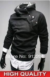 2014 NEW Hot High Collar Men's Jackets Men's Cotton Sweatshirt Dust Coat Hoodies Jacket Soft Fur Collar Coats 5 Colors Free ship