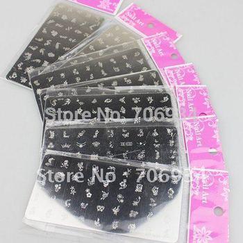 16PCS/lot Konad Stamp Image Plate Stamping Nail Art DIY Image Plate Template to01-16