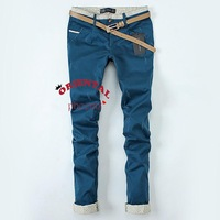 2013 Summer Autumn Women's Cat Scratches Dot Roll Up Hem Casual Solid Color  Trousers Skinny Pants
