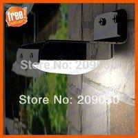 Solar Powered Lamp Outdoor 16 LED LEDs Lights Wall Light Ray Sound Sensor Light Outdoor Garden,Free Shipping