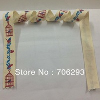 Free shipping restore ancient ways cursive script notes tower 100%cotton ribbon cotton lace 15x100m the most preferential price1