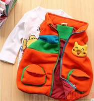 Boys clothing autumn 2012 female child vest child thickening vest baby autumn child vest female child