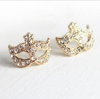Sunshine  jewelry store  rhinestone stud mask earrings  D02107 (min order $10 mixed order) new arrival!!!E186