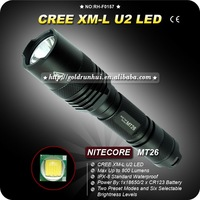 1PC NITECORE MT26 Flashlight 6 Mode 800 Lumen CREE XM-L XML U2 LED Flashlight 18650 Battery HA III Military Aluminum Torch