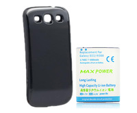4500mAh Extended Rechargeable Battery + BackCase For Samsung Galaxy S 3 III S3 i9300 Free Shipping