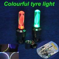 25Pairs/lot 50pcs Totally Moving Shake Sensor Colourful Bicycle Car Valve Caps Light Tire Wheel Flashing light