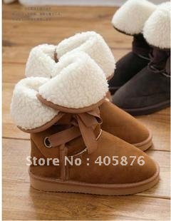 Free Shipping Winter Woolen Lace Up Snow Women Boots Shoes ladies boots AG-1015